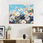 Marguerites - Kit de peinture par numéros pour adultes 40,6 x 50,8 cm