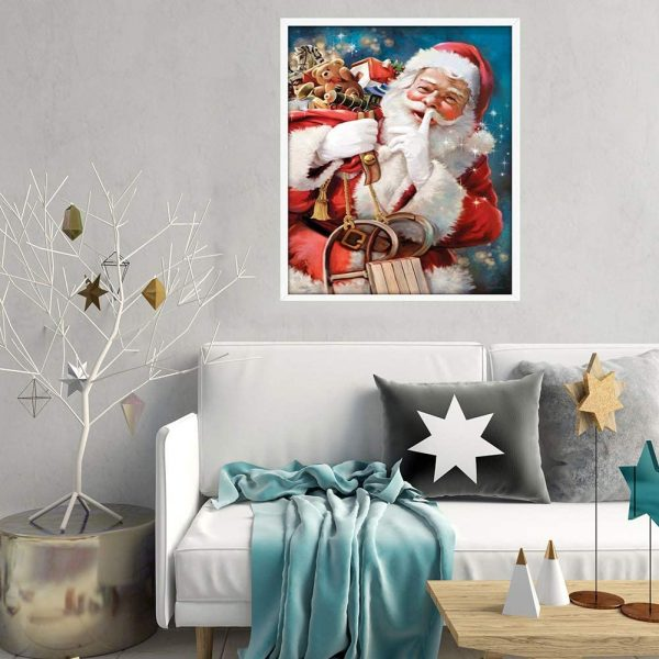 Père Noël | Kit de collage diamant 5D- 16 x 50,8 cm