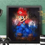 Mario Bros - Nintendo - Kit de collage diamant 5D à réaliser soi-même 40,6 x 40,6 cm
