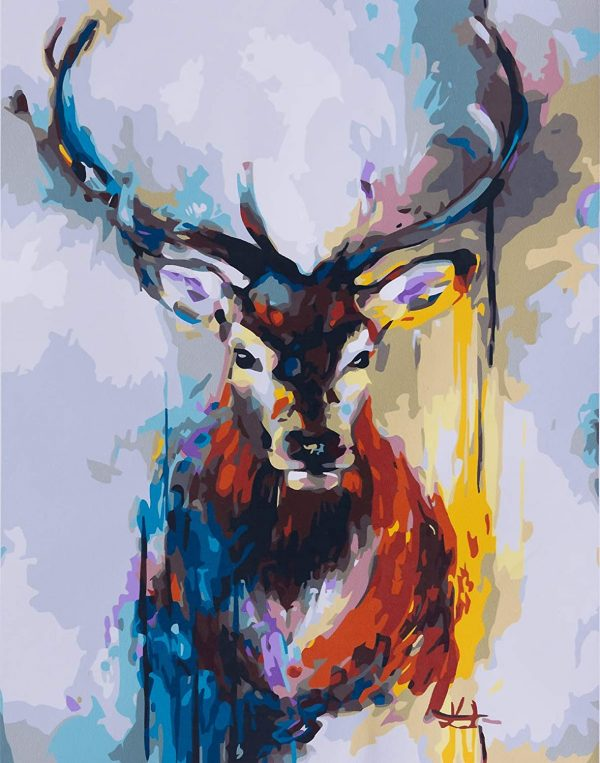 Cerf coloré