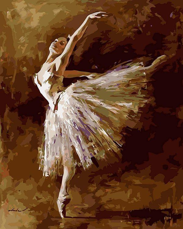 Peinture à numéro sur toile - Ballerine 40,6 x 50,8 cm