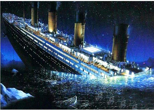 Titanic | collage à diamant - 12 x 16 cm
