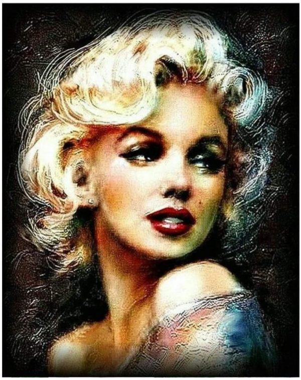 Peinture par numéros Marilyn Monroe - Toile sans cadre - 40,6 x 50,8 cm