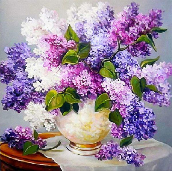 Kit de peinture diamant 5D - Bouquet de lilas