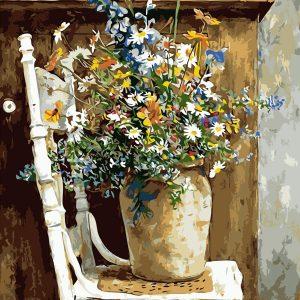 Pot de fleurs   Peinture par numéros