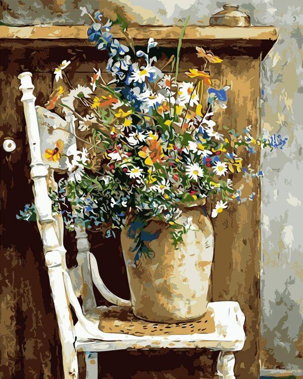 Pot de fleurs | Peinture par numéros