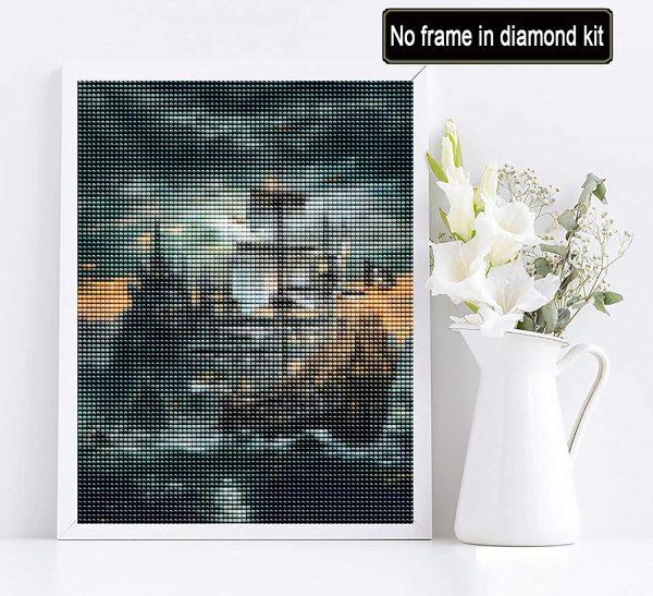 Bateau de pirates - Collage à diamant 5D par numéro pour adultes, 30 x 40 cm