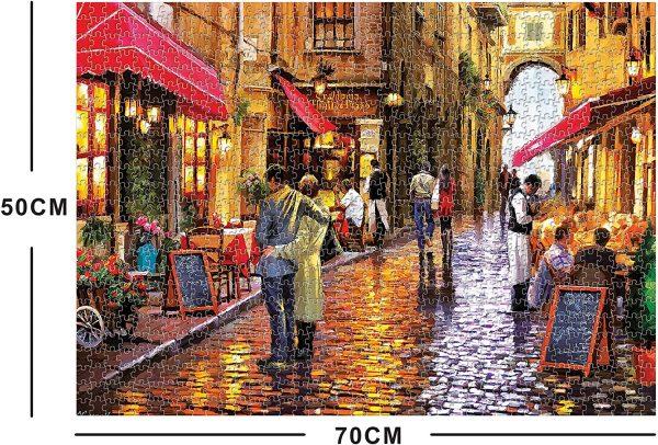 Petit bistro la nuit - 1000 pièces 70 x 50 cm