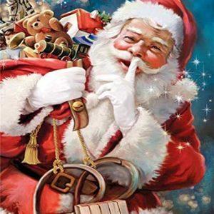 Père Noël   Kit de collage diamant 5D- 16 x 50,8 cm