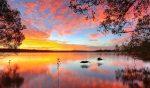 Paysage Soirée Crépuscule Lac | Peinture par numéros
