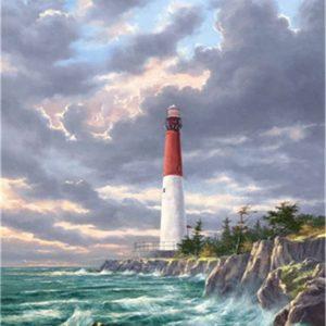 Phare de bord de mer, peinture par numéros