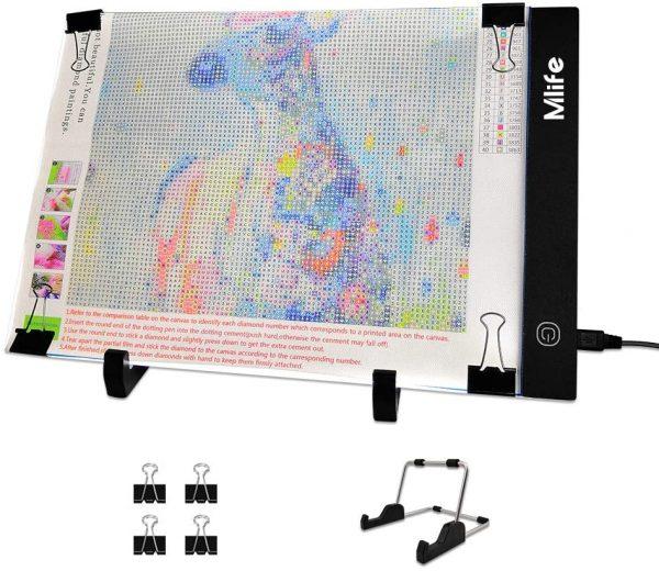 Kit de tableau lumineux à LED 16 x 12 cm avec variateur d'intensité