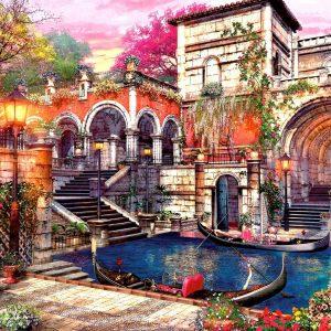 Eaux de Venise, puzzles romantiques de jardin pour adultes |Puzzle 1000 pièces